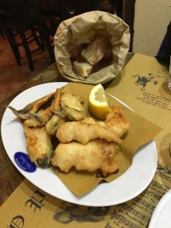 anchovies baccala bread