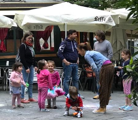 families at piazza lavanda