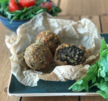 Haggis bon bons - a tasty version of a traditional dish of sheep innards