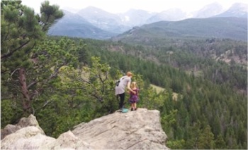 Intergenerational hiking in the Rockies